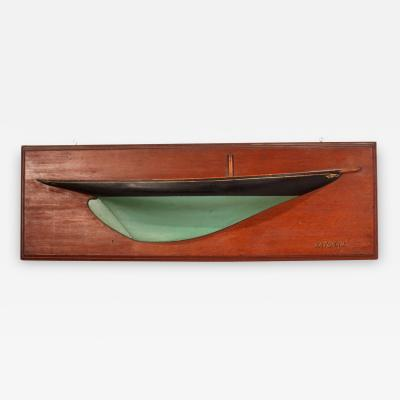 Carved and Painted Half Hull Model of the Yacht KATONAH