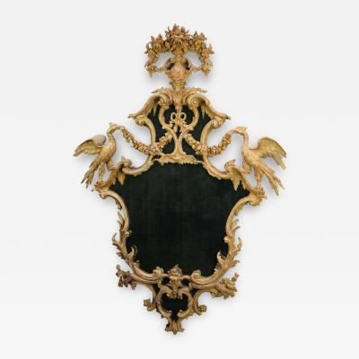 Carved and gilded rococo looking glass circa 1755