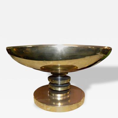Cast Brass Bronze Modernist Table Top Torchier