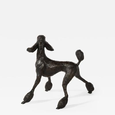 Cast Bronze Poodle Titled Roxy Study II by Tom Corbin