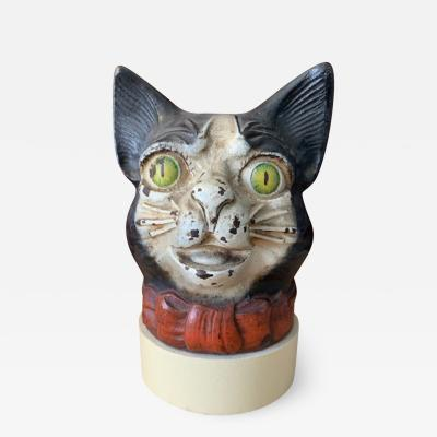 Cast Iron Cat String Holder