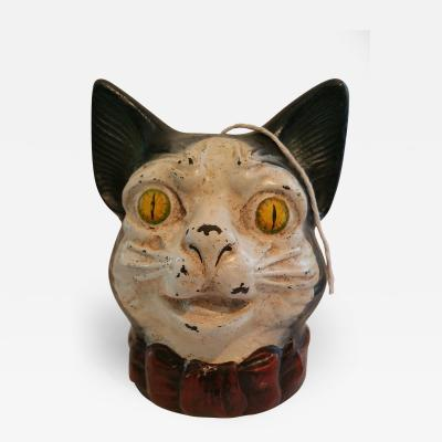 Cast Iron General Store Stringholder in the form of a Cat Head