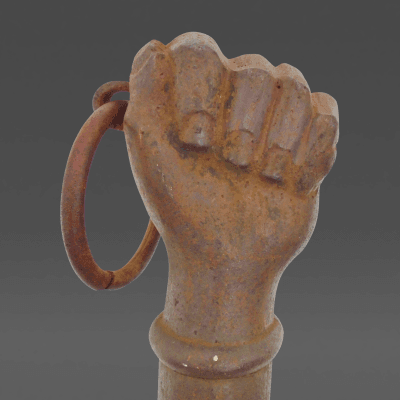 Cast Iron Hitching Post in the form of a Fist
