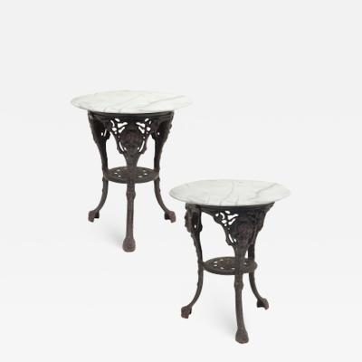 Cast Iron and Marble Ocassional Tables
