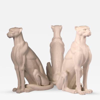 Cast Stone Cheetah Sculptures Base for 60 Diam Table