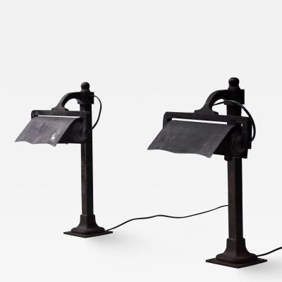 Castiron pre war industrial desk lamps 1900s