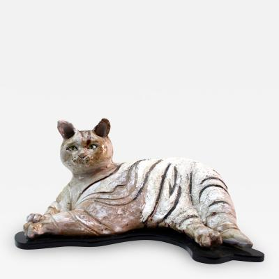 Cat sculpture 1960 Italy