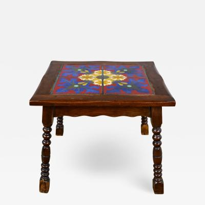 Catalina california taylor or mission spanish tile top side or end table