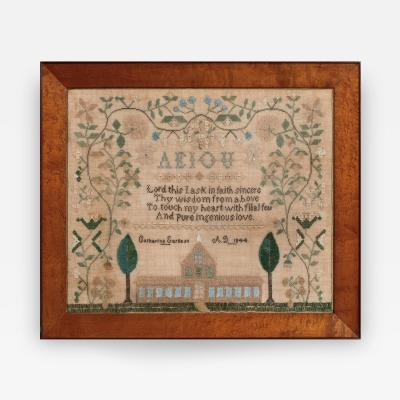 Catherine Earnest Pennsylvania Sampler by Catherine Earnest dated 1844