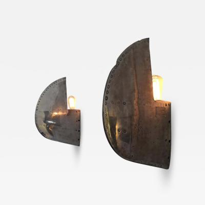 Cease Fire Wall Lamp Repurposed Lockheed T 33 Shooting Star Pair of Wing Tips