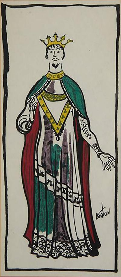 Cecil Walter Hardy Beaton Gouache on Paper of a Medieval Costume Design by Sir Cecil Beaton