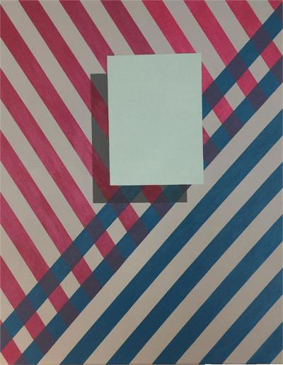 Cecilia Setterdahl Love Stripes Acrylic on Canvas