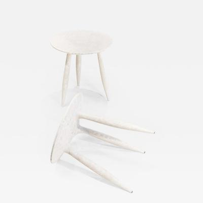 Cedric Breisacher Set of 2 Sycamore BTRFL Aside Stool by Cedric Breisache