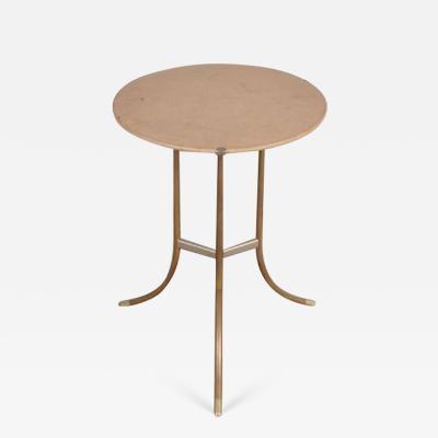 Cedric Hartman 1970s Round Side Table by Cedric Hartman USA
