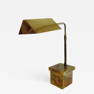 Cedric Hartman American Modern Brass Desk Lamp Cedric Hartman 1950s