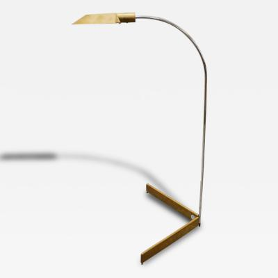 Cedric Hartman Early Bronze and Chrome Floor Lamp by Cedric Hartman