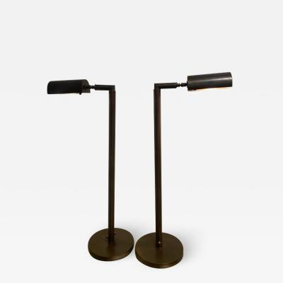 Cedric Hartman MODERNIST PAIR OF TELESCOPING BRASS FLOOR LAMPS IN THE MANNER OF CEDRIC HARTMAN
