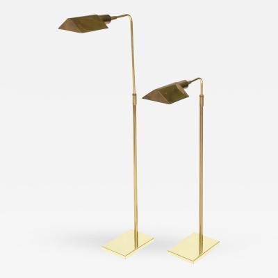 Cedric Hartman Pair of Brass Adjustable Pharmacy Floor Lamps in the Style of Cedric Hartman