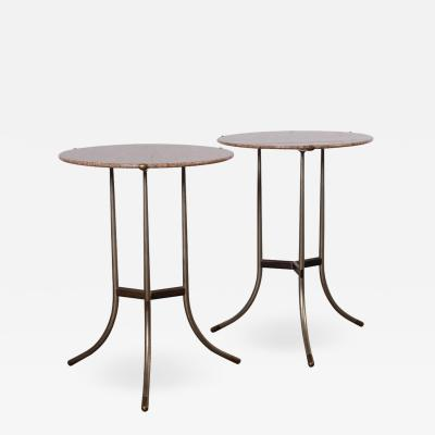 Cedric Hartman Pair of Side Tables by Cedric Hartman