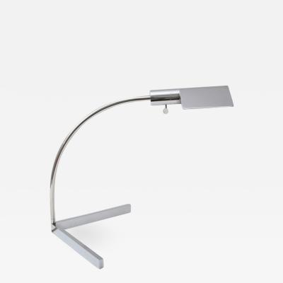 Cedric Hartman Polished Chrome Cantilevered Table Lamp by Cedric Hartman