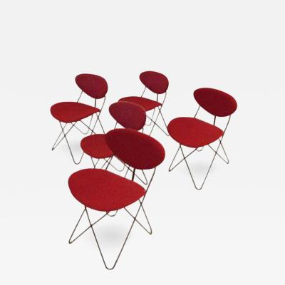 Cees Braakman A Set of Five Dining Chairs by Cees Braakman for Pastoe