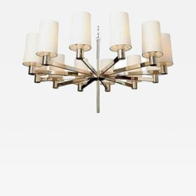 Ceiling Fixture Mid Century Modern Architectural polished nickel Italy 1950 s