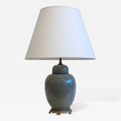 Celadon Ginger Jar Lamp
