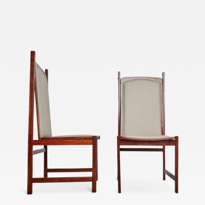 Celina Moveis Celina Moveis Brazilian Mahogany Side Chairs Pair circa 1960