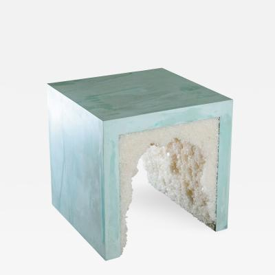 Cement Stool Side Table