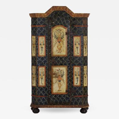 Central European Finely Painted Armoire Cabinet late 19th century