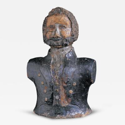 Ceramic Bust of a Mariner