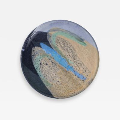 Ceramic Dish with Abstract Enamel Glaze Helwig no 84
