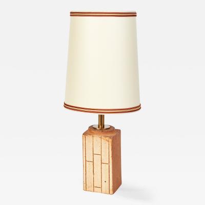 Ceramic Table Lamp France 1970s