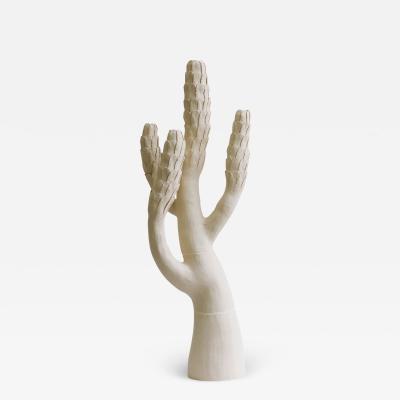 Ceramic Tree Sculpture Arbre Blanc Ecailles