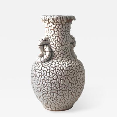 Ceramic Vase with Vermiculated White Glaze