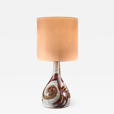 Ceramic floor or large console lamp Denmark 1960s