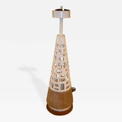 Ceramiche Zaccagnini Tall Handsome Italian Mid Modern Pottery Table Lamp by Zaccagnini Ceramics