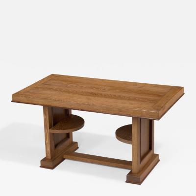 Cerused Oak Coffee Table France 1950s