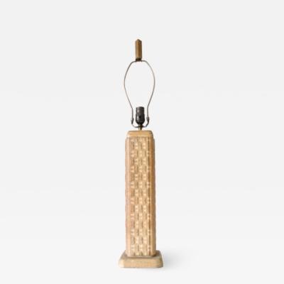 Cerused Table Lamp