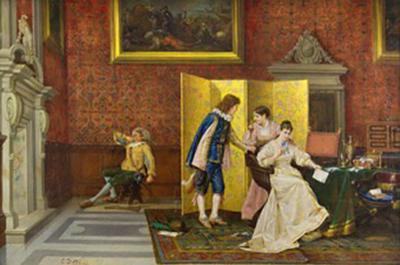 Cesare Auguste Detti The Interrupted Serenade