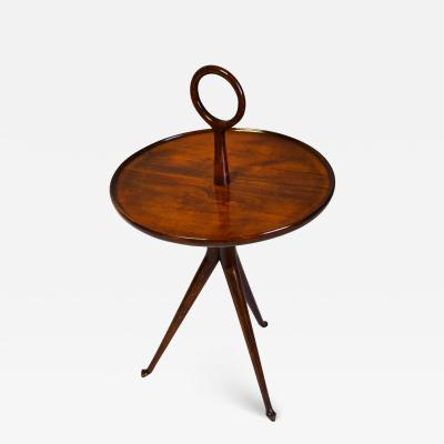 Cesare Lacca 20th Century Cesare Lacca Serving Table Round Top in Wood from 1950s