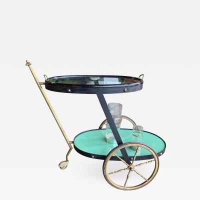 Cesare Lacca Cesare Lacca Rare Oval Bar Cart Italy 1955