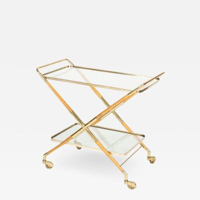 Cesare Lacca Cesare Lacca serving trolley made of brass and pear tree 50s