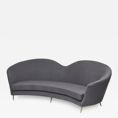 Cesare Lacca Large Mid Century Modern curved sofa by Cesare Lacca Italy