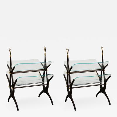Cesare Lacca Pair of Magazine Rack by Cesare Lacca