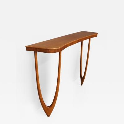 Cesare Lacca Wall Console MidCentury attributed to Cesare Lacca in wood oak 1960s