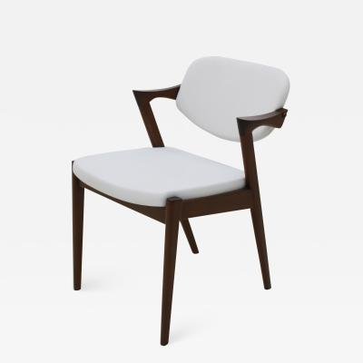 Chair in Style Of Kai Kristansein Made Of Walnut Wood And Reclining Backrest