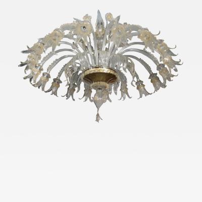 Chandelier Murano Glass Italy 20th Century