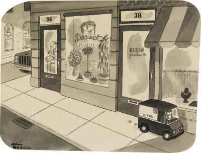 Charles Addams Mini Mail Truck
