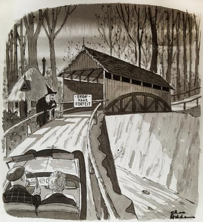 Charles Addams Stop Make Forfeit
